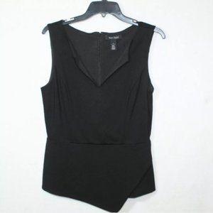 White House Black Market black asymmetrical blouse